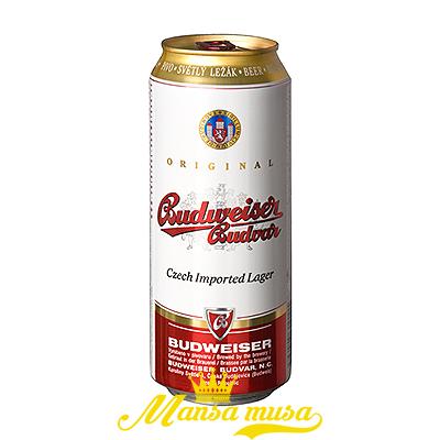 Bia Budweiser Budvar Tiệp5 % lon 500ml