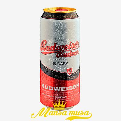 Bia Budweiser Budvar Dark Tiệp 4,7 % lon 500ml