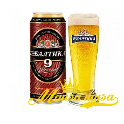 Bia Baltika số 9 Nga 8% lon 1000ml