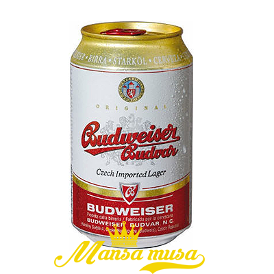 Bia Budweiser Budvar Tiệp 5 % lon 330ml