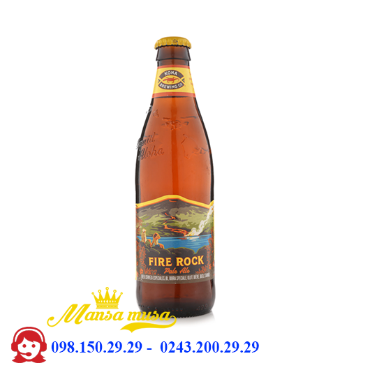 Bia Kona Fire Rock Pale Ale 4,8% – Chai 355ml