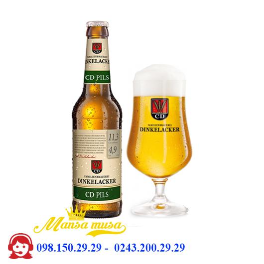 Bia Dinkelacker CD Pils 4.9% – Chai 330ml – Thùng 24 Chai