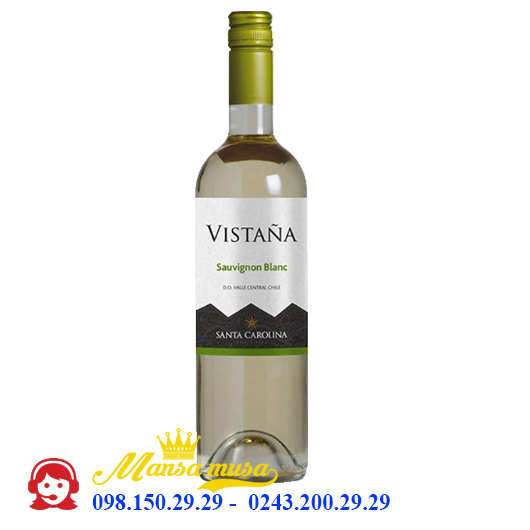 Vang Chile Santa Carolina Vistana Sauvignon Blanc