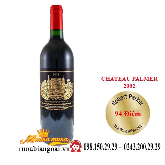Rượu vang Pháp Chateau Palmer 2002