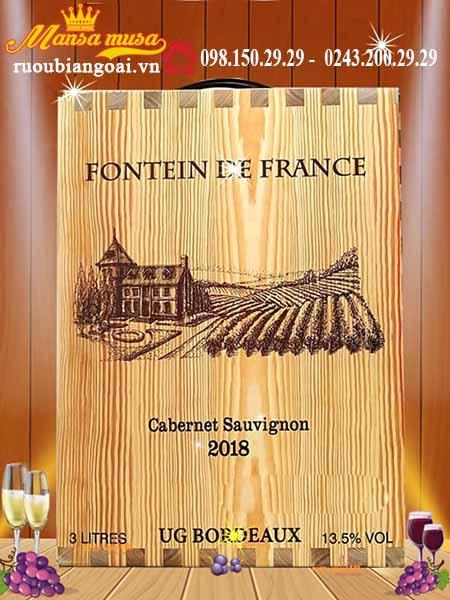 Vang bịch Pháp Fontein De France Cao cấp