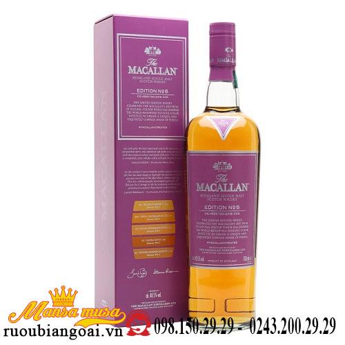 Rượu Macallan Edition No. 5