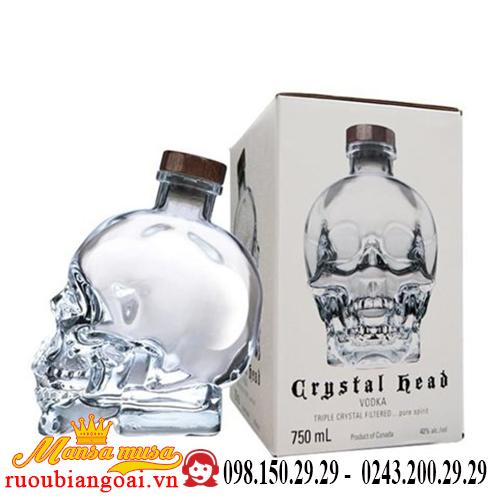 Rượu Vodka Crystal Head