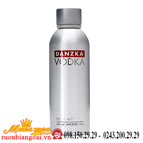 Rượu Vodka Danzka – Vodka Nhôm