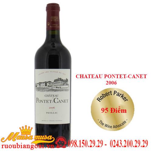Vang Pháp Chateau Pontet-Canet 2006