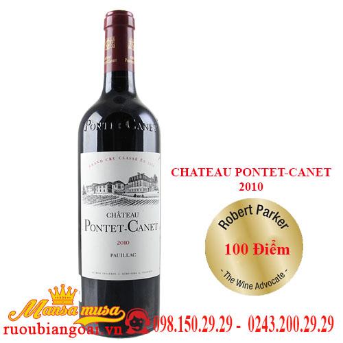 Vang Pháp Chateau Pontet-Canet 2010