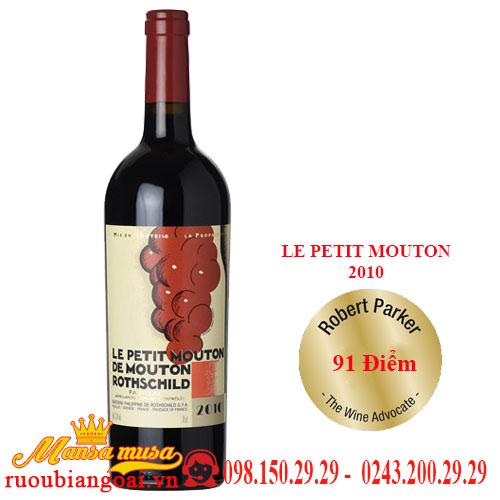 Vang Pháp Le Petit Mouton 2010