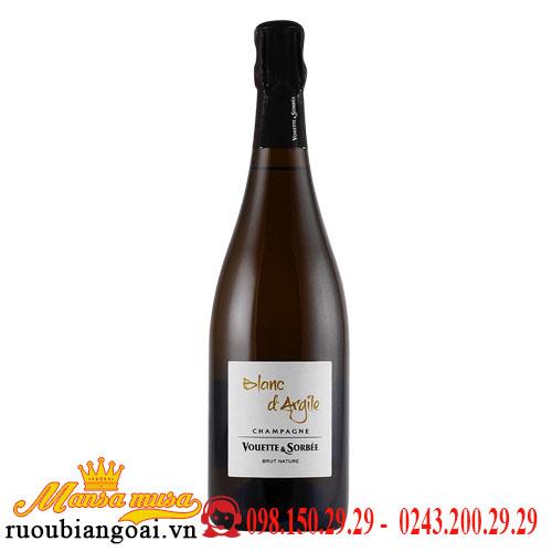 Rượu Vang Nổ Blanc d Argile Champagne Vouette Et Sorbee Extra Brut